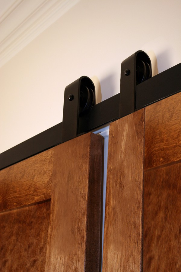 Bi-Parting Door Flat Track Kit with Top Mount Hangers