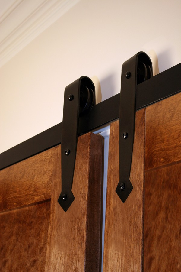 Bi-Parting Door Flat Track Kit with Arrowhead Hangers