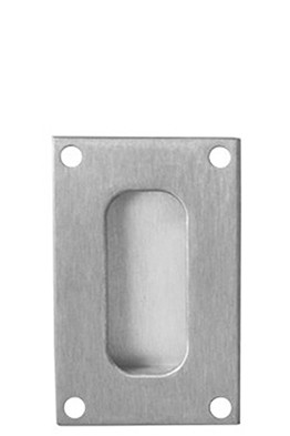 Brushed Aluminum Standard Flush Mounted Door Pull