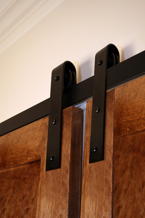 Bi-Parting Door Flat Track Kit with Traditional Hangers